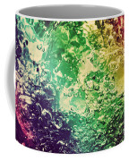 Colorful Splashing Pouring Water With Bubbles Coffee Mug