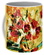 Colorful Spring Bouquet - Abstract  Coffee Mug