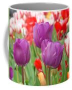 Colorful Spring Tulips Garden Art Prints Coffee Mug