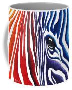 Colorful Stripes Original Zebra Painting By Madart Coffee Mug