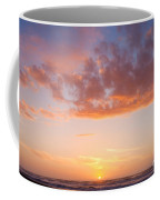 Colorful Sunset Cloudscape Over Beach And Ocean Coffee Mug