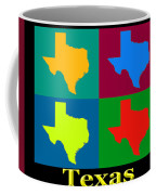 Colorful Texas Pop Art Map Coffee Mug