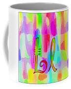 Colorful Texturized Alphabet Ll Coffee Mug