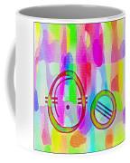 Colorful Texturized Alphabet Oo Coffee Mug