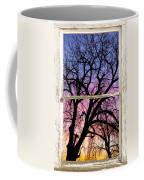 Colorful Tree White Farm House Window Portrait View Coffee Mug
