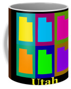 Colorful Utah State Pop Art Map Coffee Mug