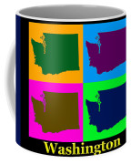 Colorful Washington State Pop Art Map Coffee Mug