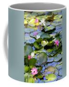 Colorful Water Lily Pond Coffee Mug