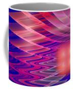 Colorful Waves Abstract Fractal Art Coffee Mug