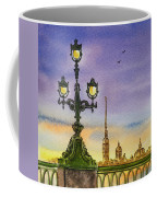 Colors Of Russia Bridge Light In Saint Petersburg Coffee Mug