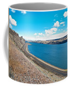Columbia River Rolls On Between Oregon And Washington  Coffee Mug