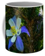 Columbine Flowers And Pine Tree Coffee Mug