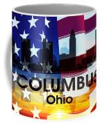 Columbus Oh Patriotic Large Cityscape Coffee Mug