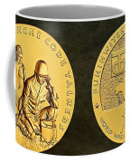 Comanche Nation Tribe Code Talkers Bronze Medal Art  Coffee Mug