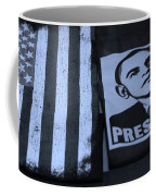 Commercialization Of The President Of The United States In Cyan Coffee Mug