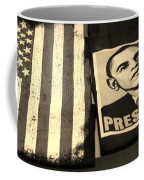 Commercialization Of The President Of The United States In Sepia Coffee Mug by Rob Hans