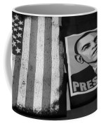 Commercialization Of The President Of The United States Of America In Black And White Coffee Mug