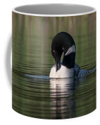 Common Loon Preening Coffee Mug
