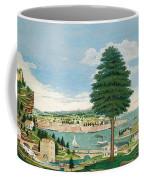 Composite Harbor Scene With Castle Coffee Mug