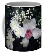 Composition With A Pink Orchid Coffee Mug