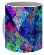 Computer Generated Abstract Julia Fractal Flame Coffee Mug