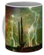 Computer Generated Image Of Lightening Coffee Mug