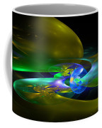 Computer Generated Planet Sphere Abstract Fractal Flame Modern Art Coffee Mug