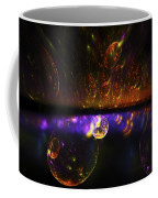 Computer Generated Red Blue Abstract Fractal Flame Modern Art Coffee Mug