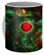 Computer Generated Spheres Abstract Fractal Flame Modern Art Coffee Mug