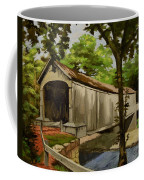 Comstock Covered Bridge East Hamptom Connecticut Coffee Mug