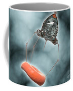 Conceptual Image Of A Nanobot Injecting Coffee Mug