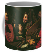 Concert With Musicians And Singers, C.1625 Oil On Canvas Coffee Mug