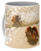 Conchs In Surf 2 Antique Coffee Mug