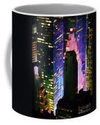 Concrete Canyons Of Manhattan At Night  Coffee Mug
