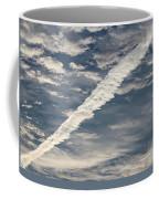 Condensation Trails - Contrails - Airplane Coffee Mug