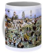Coney Island Beach And Boardwalk Coffee Mug