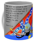 Confederate States Of America Robert E Lee Coffee Mug by Digital Creation