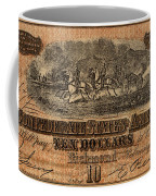 Confederate Ten Dollars Coffee Mug