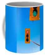Confusing Green Red Traffic Lights Sky Copyspace Coffee Mug