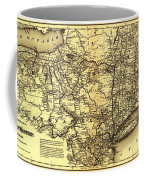 Connecticut And Western Railroad Map 1871 Coffee Mug
