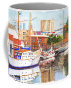 Constitution Dock In Hobart Tasmania Coffee Mug