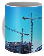 construction cranes HDR Coffee Mug