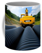 Construction Excavator Coffee Mug by Amy Cicconi