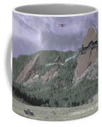 Construction Of The Flatirons - 1931 Coffee Mug