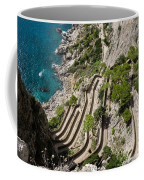 Contemplating Mediterranean Vacations - Via Krupp Capri Island Italy Coffee Mug