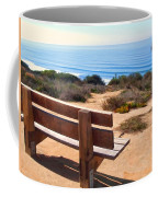 Contemplation Bench At The Oceans Edge Coffee Mug