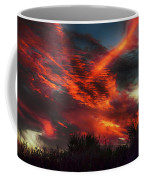 Contrails And Sunset Coffee Mug