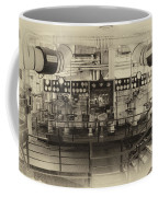 Control Board Engine Room Queen Mary Ocean Liner Long Beach Ca Heirloom Coffee Mug