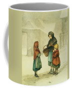 Conversation In The Snow Coffee Mug by Pierre Edouard Frere