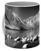 Convict Lake Pano In Black And White Coffee Mug